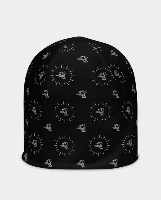 all over black shoe pattern beanie