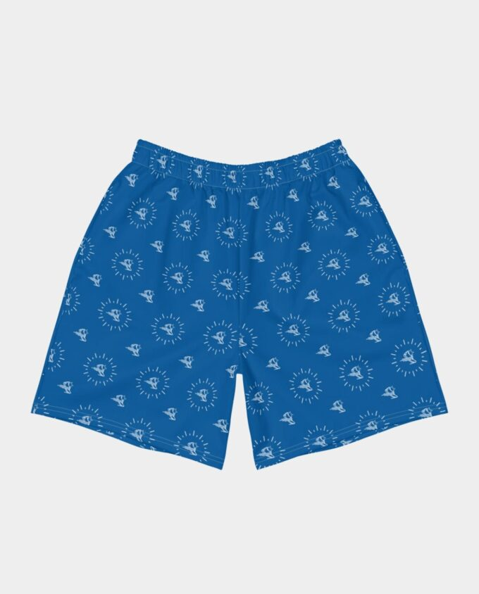 all over shoe print shorts blue