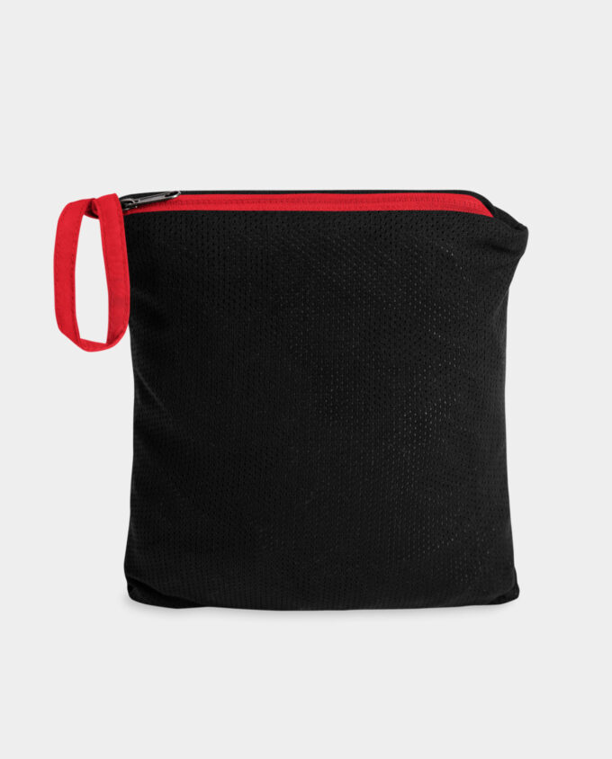 embroidered champion packable red pouch